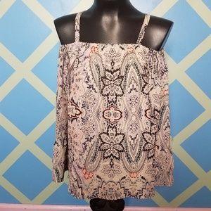 Parker Henna cold shoulder blouse
